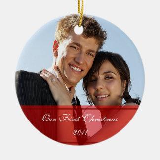 KRW notre premier de Noël ornement fait sur