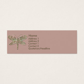 KRW Olive Green and Pink Profile Card