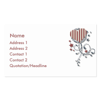 KRW Patriotic Heart Business Card
