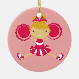 KRW Pink Cheerleader Keepsake Ornament