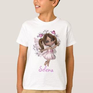 KRW Pink Heart Fairy Custom Name T-Shirt