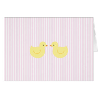 KRW Pink Stripe Rubber Duck Baby Shower Invitation