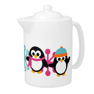 KRW Playful Penguins Medium Tea Pot