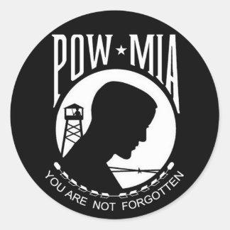 KRW POW-MIA You Are Not Forgotten Round Sticker