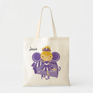 KRW Purple Cheerleader Custom Party Tote Bag