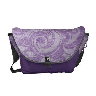 KRW Purple Gothic Vintage Swirl Messenger Bag