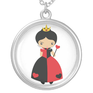 KRW Queen of Hearts Silver Necklace