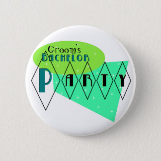 KRW Retro Bachelor Party Lime Aqua Custom Pin