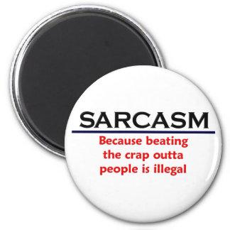 KRW Sarcasm Funny Joke 2 Inch Round Magnet
