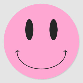 KRW Smiley Face Custom Color Classic Round Sticker