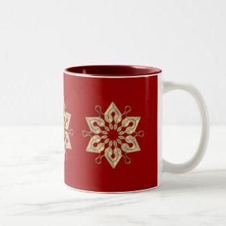 KRW Snowflake Two-Tone Coffee Mug