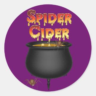 KRW Spider Cider Halloween Classic Round Sticker