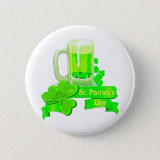 KRW St Patrick's Day Green Beer 2 Inch Round Button