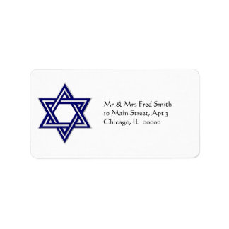 KRW Star of David Hanukkah Address Label