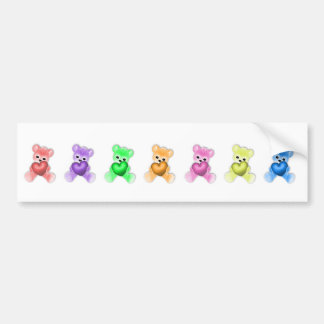 KRW Teddy Rainbow Bumper Sticker