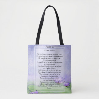 KRW The Lord is My Shepard Psalm 23 All Over Tote