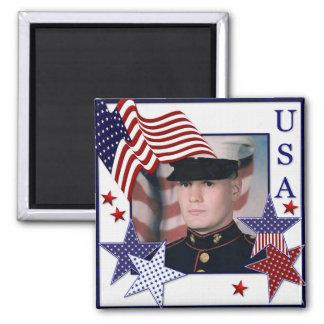 KRW USA Frame Custom Photo Magnet