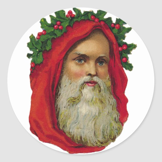 KRW Victorian Father Christmas Santa Sticker