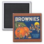 KRW Vintage Brownies Orange Fruit Crate Label Magn Square Magnet