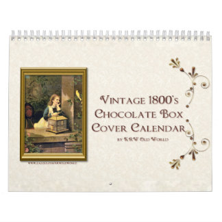 KRW Vintage Chocolate Box Cover Calendar 2009