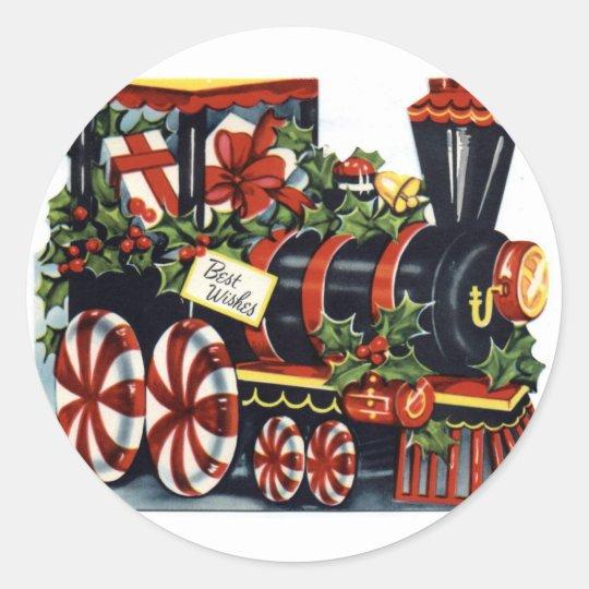 KRW Vintage Holiday Train Sticker