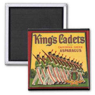 KRW Vintage King's Cadets Asparagus Crate Magnet