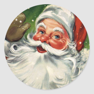 KRW Vintage Santa Claus Christmas Sticker