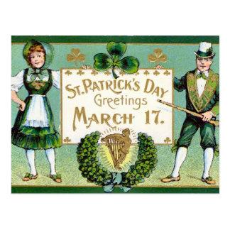 KRW Vintage St Patrick's Day Postcard