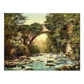 KRW Vintage The Dargle Bridge County Wicklow Postcard