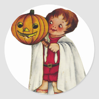 KRW Vintage Trick or Treater Halloween Stickers