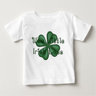 KRW Wee Little Irish Lass Shamrock Baby T-Shirt