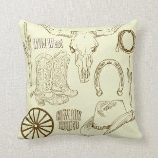 KRW Wild West Rodeo Decor Pillow