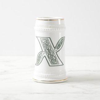 KRW - X - Celtic Monogrammed Stein