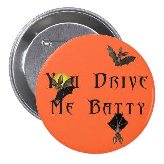 KRW You Drive Me Batty Halloween 3 Inch Round Button