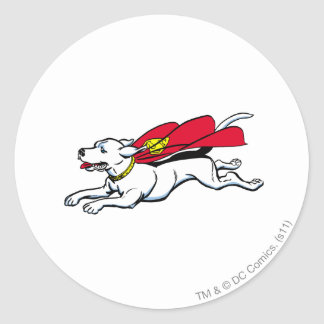 Krypto the dog classic round sticker