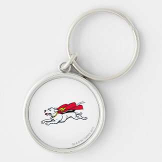 Krypto the dog Silver-Colored round keychain