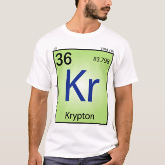Krypton (Kr) Element T-Shirt - Front Only