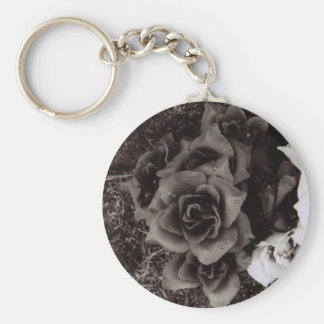 Krys Design Grave Roses Basic Round Button Keychain