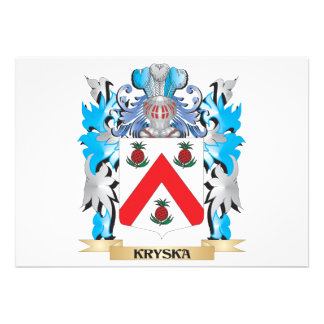 Kryska Coat of Arms - Family Crest Personalized Announcements