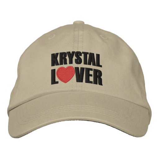 Krystal Lover Embroidered Hats