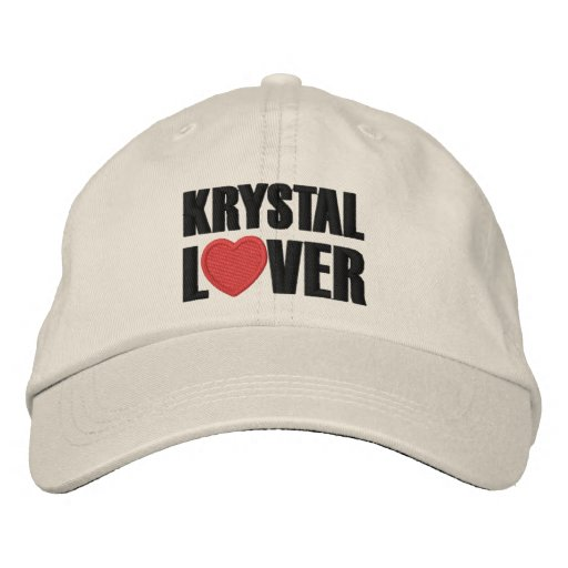 Krystal Lover Embroidered Hats