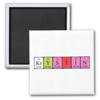 Krystin periodic table name magnet