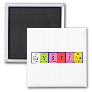 Krystina periodic table name magnet