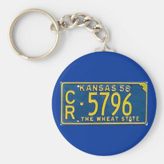 KS58 BASIC ROUND BUTTON KEYCHAIN