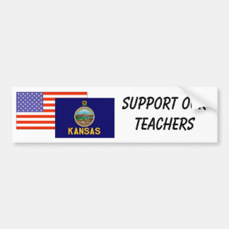 KS--Support Our Teachers Bumper Sticker