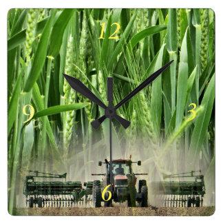 Ks Wheat drilling clock- customize Wallclock