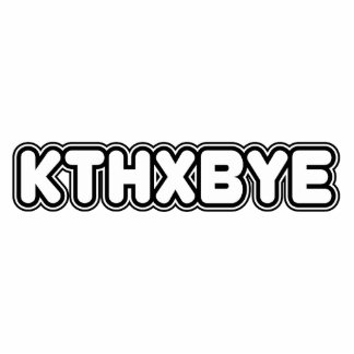 KTHXBYE PHOTO SCULPTURE MAGNET