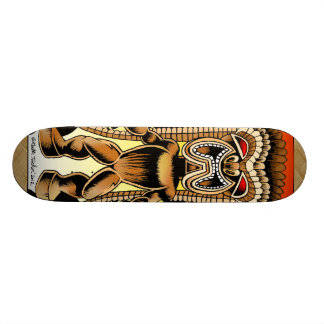 Ku, Hawaiian Tiki God Skateboard