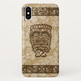 Ku-Tiki Hawaiian Tapa Hibiscus Tropical iPhone X Case