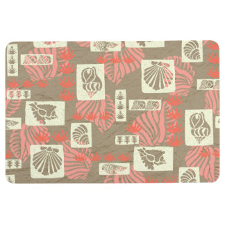 Kua Bay Hawaiian Undersea Shells Coral Floor Mat